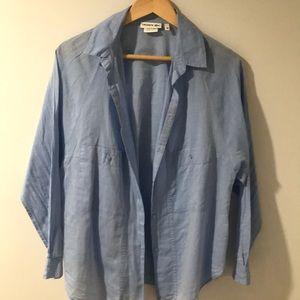 Lacoste Women blue shirt size 40 -size 8 or 10